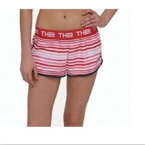 Tommy Hilfiger Womens Sport Shorts Large Red Strip